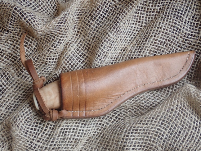 Knife and sheath with strap