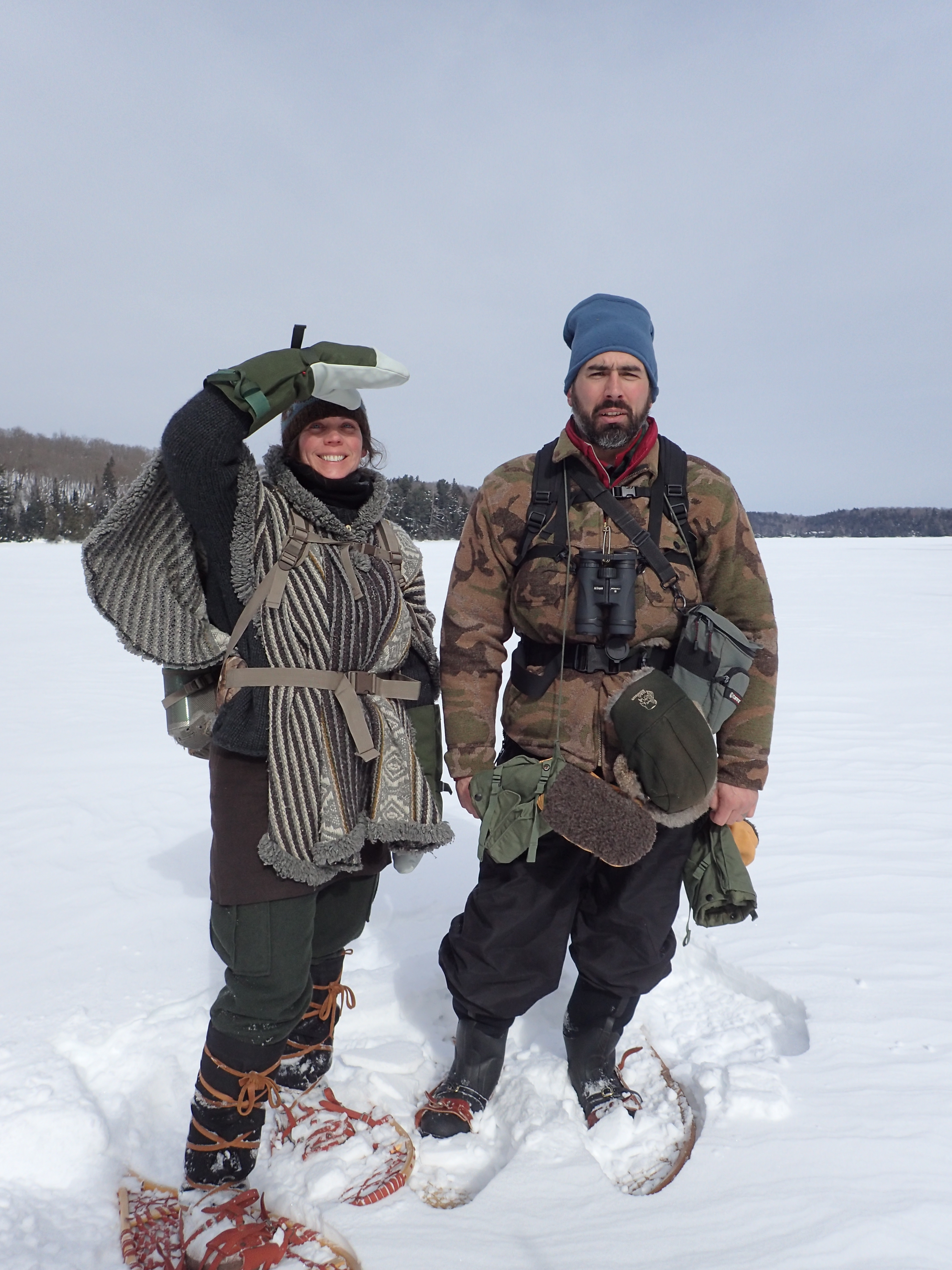 Deneen and Andy in our cold weather attire
