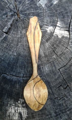 Eating Spoon of Spalted Maple