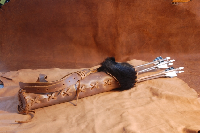 Quiver with bear hide
